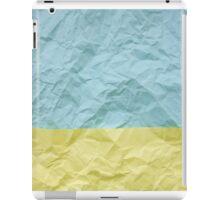 crumpled paper iPad Case/Skin