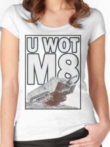 U WOT M8? Women's Fitted Scoop T-Shirt