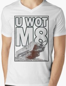 U WOT M8? Mens V-Neck T-Shirt