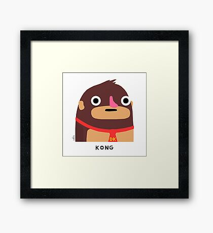 Kong (black text) Framed Print