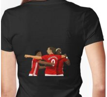 Anthony Martial, Ibrahimovic and Paul Pogba - Manchester United FC Womens Fitted T-Shirt