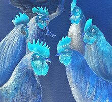 New Chick On The Block In Blue by bill holkham
