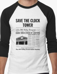 Save the clock tower Men's Baseball ¾ T-Shirt