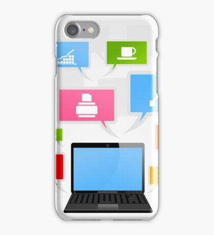 Office laptop iPhone Case/Skin