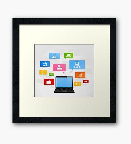 Office laptop Framed Print