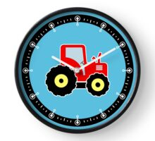 Red toy tractor Clock