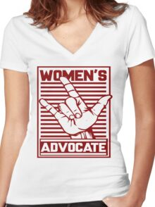 Women's Love Advocate Women's Fitted V-Neck T-Shirt
