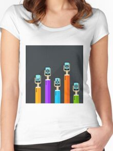 Phone in a hand Women's Fitted Scoop T-Shirt
