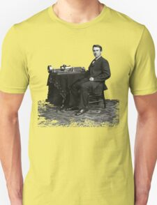 Edison and his invention the phonograph in 1878 T-Shirt