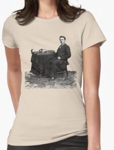 Edison and his invention the phonograph in 1878 Womens Fitted T-Shirt