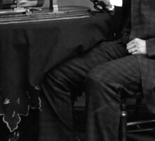 Edison and his invention the phonograph in 1878 Sticker