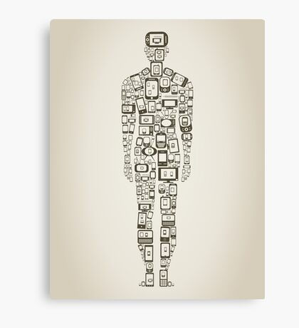 Phone the person Canvas Print