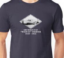 """U.S. Navy - Grumman F4F """"Wildcat"""" Fighter (White) Unisex T-Shirt"""