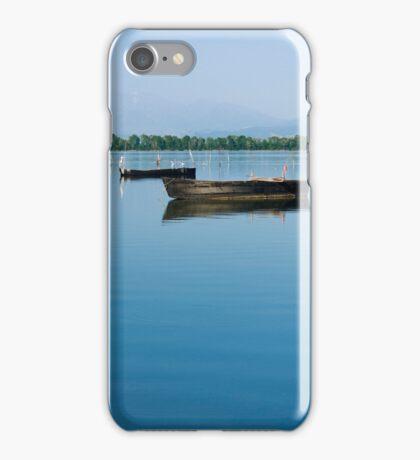 Boats in lake Kerkini iPhone Case/Skin