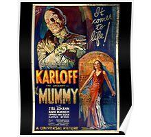 Mummy Boris Karloff Movie Vintage Poster Poster