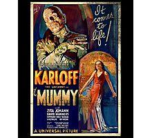 Mummy Boris Karloff Movie Vintage Poster Photographic Print