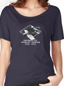 "U.S. Navy - Grumman F4F ""Wildcat"" Fighter (White) Women's Relaxed Fit T-Shirt"