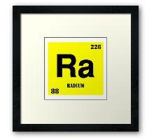 Radium Framed Print