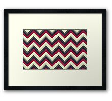 Modern Red Chevrons Framed Print