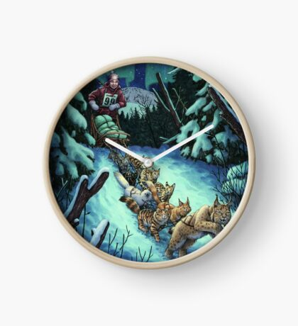 Gilly & the Snowcats Clock