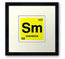 Samarium Framed Print