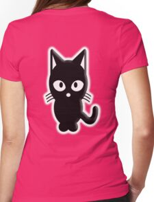 Cat, Cartoon, Pet, Fun, Funny, Feline, Puss, Pussy,  Womens Fitted T-Shirt