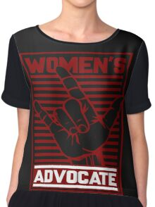 Women's Love Advocate Chiffon Top