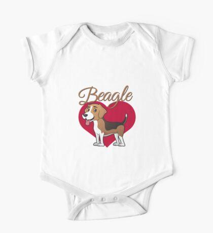 Beagle in my heart One Piece - Short Sleeve