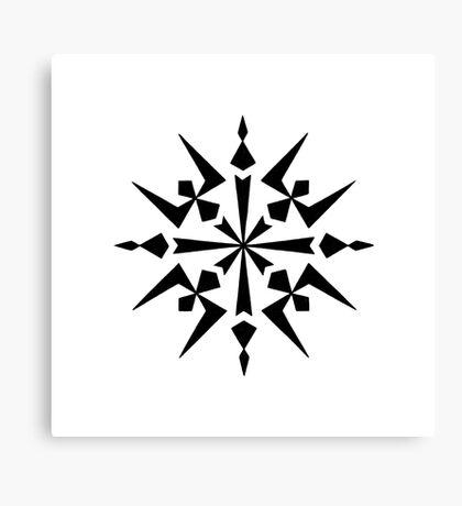 Mandala #222 || Mono Canvas Print