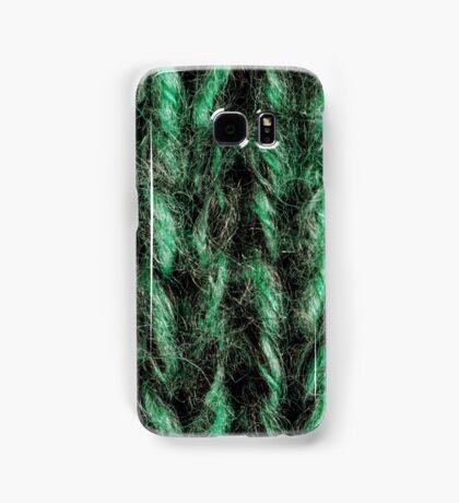 Green Knitted Background  Samsung Galaxy Case/Skin