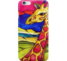 Colorful Giraffe in nature iPhone Case/Skin