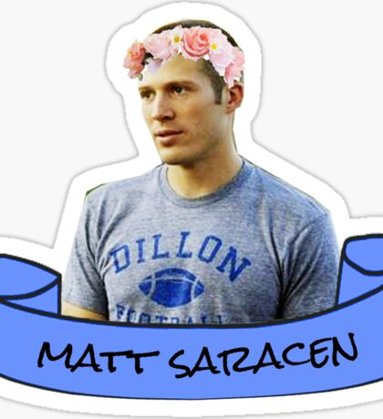 matt saracen flower crown sticker Sticker