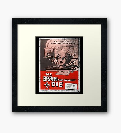 The Brain That Wouldn't Die Vintage Movie Poster Framed Print