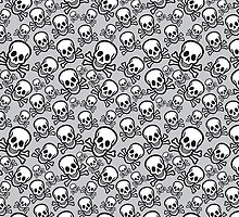 Halloween skull pattern with crossbones by beakraus