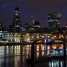 Pre dawn down by the River Thames, London by Cliff Williams