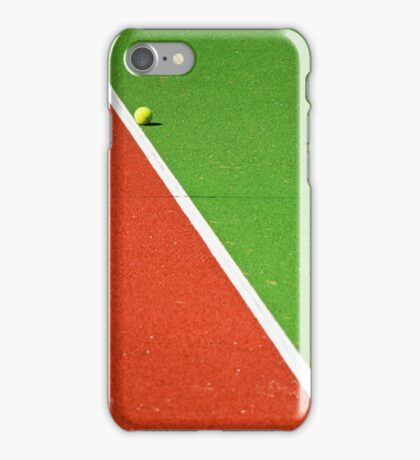 Red :: Green :: White Line and Tennis Ball iPhone Case/Skin