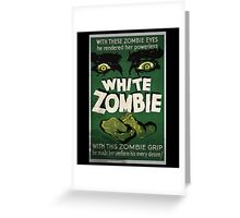 White Zombie Vintage Movie Poster  Greeting Card