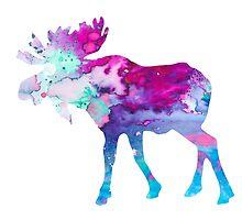 Moose by Watercolorsart