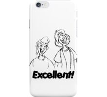 Bill and Ted - Group 04 - Excellent - Black Line Art iPhone Case/Skin