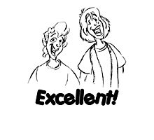 Bill and Ted - Group 04 - Excellent - Black Line Art Photographic Print