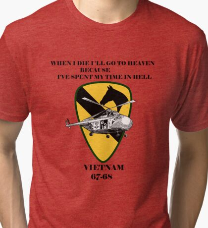 Vietnam Vintage War Soldiers Tri-blend T-Shirt