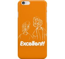 Bill and Ted - Group 04 - Excellent - White Line Art iPhone Case/Skin