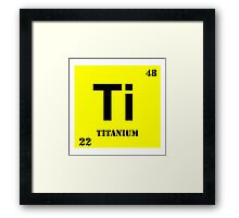 Titanium Framed Print