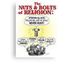 NUTS & BOLTS of RELIGION Canvas Print