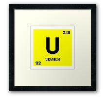 Uranium Framed Print