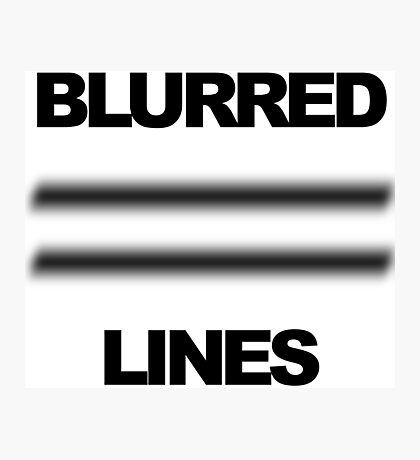 Blurred Lines Photographic Print