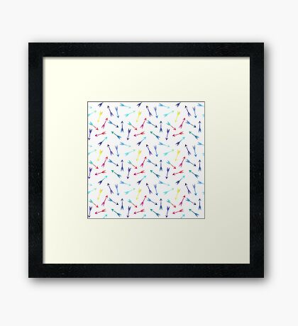 Rainbow Scattered Arrows Framed Print