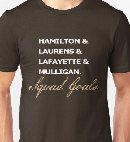 HAMILTON SQUAD GOALS TSHIRT Laurens Lafayette MULLIGAN Graphic Unisex T-Shirt