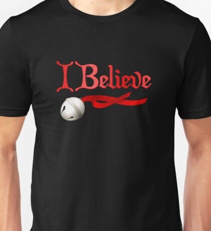 I Believe Jingle Bell Christmas Unisex T-Shirt