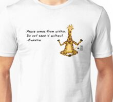 Giraffe Zenimal with Buddha Quote Unisex T-Shirt